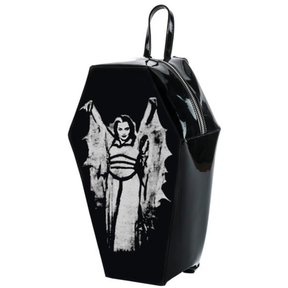 premium selection cheap multiple colors Lily Munster Coffin Backpack Black Boutique